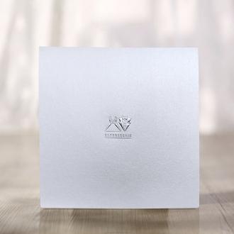 Zaproszenie Kwadratowe Białe Subtelne F1344tb