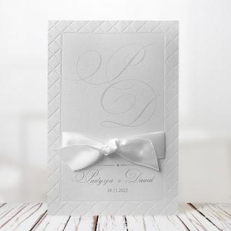 Zaproszenia Ślubne w Kolorze Białym F1244tb