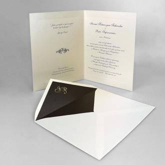 Zaproszenia Ślubne w Kolorze Ecru Prestiżowe Royal