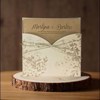 Zaproszenie ślubne w formie kieszonki f1464