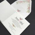 Zaproszenie ślubne z kwiatowym wiankiem f1472