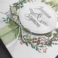 Zaproszenie ślubne z wiankiem z gałązek  f1471