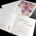 Zaproszenie ślubne z kwiatowym sercem f1470