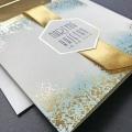 Zaproszenie ślubne gold  f1482