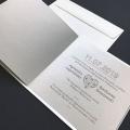 Zaproszenie ślubne z miedzianym sercem f1478