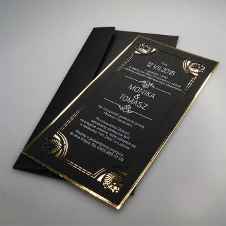 Zaproszenie ślubne z białym nadrukiem f1383ac