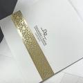 Zaproszenie ślubne ze złotym wzorem f1481