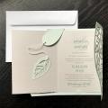 Zaproszenie ślubne ażurkowe listki f1469