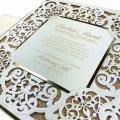 Zaproszenie ślubne z białym ornamentem f3727