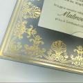 Zaproszenie ślubne ze złoconym ornamentem f3731