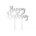 Topper na tort Happy Birthday, 22,5cm