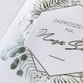 Zaproszenie Ślubne Botaniczny wianek F1490