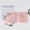 Zaproszenie Ślubne romantyczne kwiaty F1495