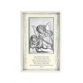Obrazek Srebrny na Chrzest Święty  9x14 cm