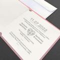Zaproszenie ślubne z geometrycznym sercem F1478r