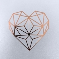 Zaproszenie Ślubne w Kolorze Białym z geometrycznym  Sercem F1478tb