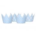 Korony Party, błękit, 10cm (1 op. / 4 szt.)