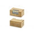 Szklane pudełko na obrączki, złoty, 9x5,5x4cm