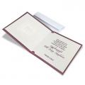 Fioletowa Kartka Świąteczna z okienkiem