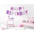 Balon foliowy Happy Birthday, 340x35cm, mix