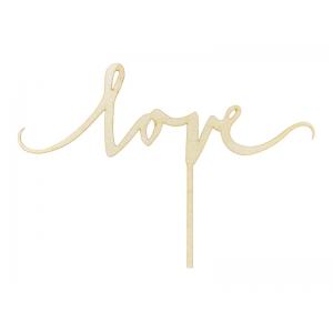 Topper drewniany Love, 16cm