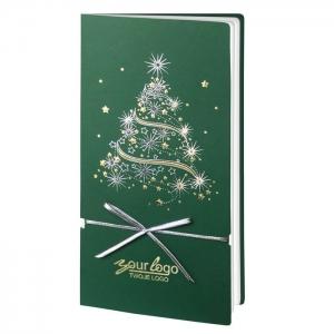 Zielona Kartka Świąteczna z choinką FS256Z