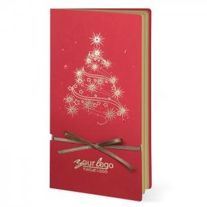 Czerwona Kartka Świąteczna z choinką FS256C