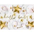 Baner Little Star - Hello Baby, złoty, 18x70cm
