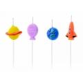 Świeczki urodzinowe Kosmos, mix, 2-3cm