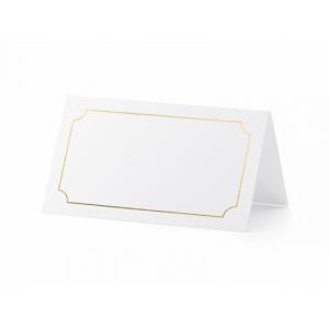 Wizytówki na stół - Ramka, złoty, 9,5x5,5cm