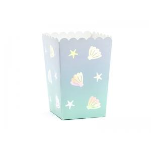 Pudełka na popcorn Narwal, mix, 7x7x12,5cm