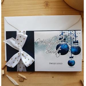 Granatowa Kartka Świąteczna - WS005
