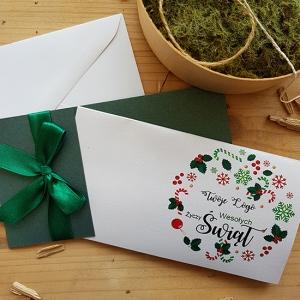 Kartka Świąteczna z wianuszkiem - WS007