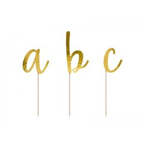 Toppery Alfabet, złoty, 9,5-12cm