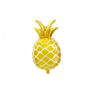 Balon foliowy Ananas, złoty, 38x63cm