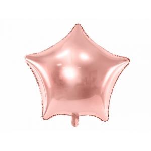 Balon foliowy Gwiazdka, 48cm, różowe złoto