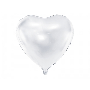 Balon foliowy Serce, 61cm, biały