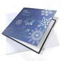 Kartka Świąteczna z płatkami śniegu FS997