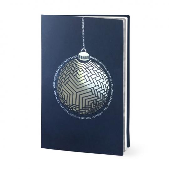 Kartka Świąteczna z nowoczesną bombką FS971
