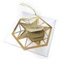 Kartka Świąteczna w kształcie heksagonu FS1021