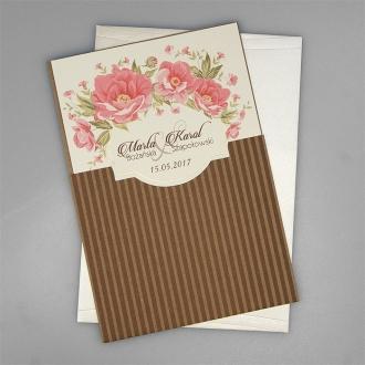 Zaproszenia Ślubne Rustykalne z Kwiatami F2675