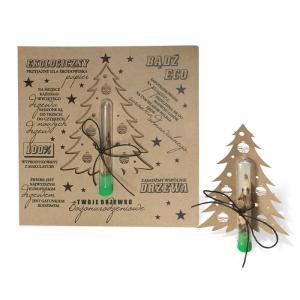 Eko Kartka Świąteczna z nasionami świerka FS1030