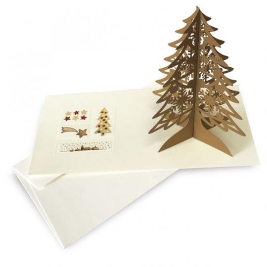 Kartka Świąteczna z choinką FS1020