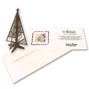 Kartka Świąteczna z choinką FS1022