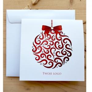 Kartki święteczne biznesowe z logo