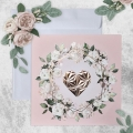 Zaproszenie Ślubne Różowe trójwymiarowe serce
