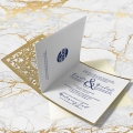 Zaproszenie Ślubne złota elegancja