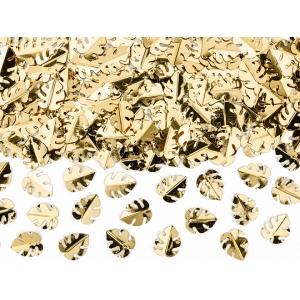Konfetti metalizowane Liście, złoty, 15g