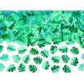 Konfetti metalizowane Liście, zielony, 15g