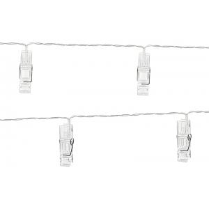 Lampki LED klamerki, bezbarwny, 1,4m